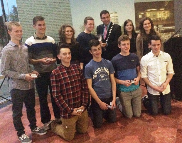 The Crossfield Ceilí Band who stormed to success in the U-18 All Ireland Ceilí Band competition at the Fleadh were also given a Mayoral Reception at Co Hall.
