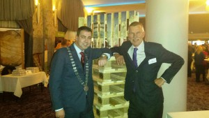 Mayor of the County of Cork Cllr. John Paul O' Shea with President of FEFPEB Rob Van Hoesel at the Congress.