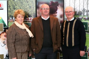 Michael O'Neill, Cork Racecourse Manager, with Celeste Walsh and trainer John Joe Walsh at the Future Focus Roadshow.