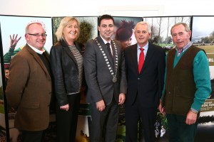 Michael O'Neill, Cork Racecourse Manager, Mary Kelly, Sales & Marketing Manager, Cork County Mayor Cllr. John Paul O'Shea, Tom Gaffney, Chair of Board at Cork Racecourse and Denis McDonnell, Board Member Cork Racecourse at the Future Focus Roadshow featuring Cork Racecourse, Mallow