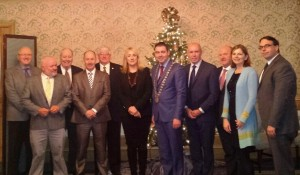 The Cork County Council Delegation with members of the Irish American Partnership and Consul General of Ireland in Boston Ms. Fionnola Quinlan