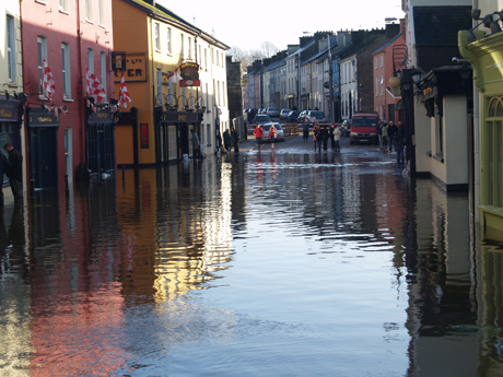 Flooding on Pearse Street, Bandon, Co. Cork.