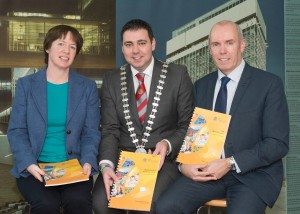 Mayor of the County of Cork Cllr. John Paul O' Shea with the Chief Executive of Cork County Council Mr. Tim Lucey and Senior Planner Ms. Patricia Griffin at the launch of the public consultation phase on the new Local Area Plans for each of the eight municipal districts.
