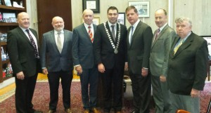 Mayor of the County of Cork Cllr. John Paul O' Shea met with the Mayor of Boston Mr. Marty Walsh during his recent visit to Boston