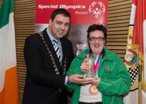 Lisa O'Brien from Ballyhea, Charleville, Co. Cork secured two Bronze medals in the 50 meter and 25 meter sprints at the Special Olympics.