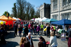 The Mallow Food & Craft Fair in full flow on Easter Sunday on the grounds of Mallow Castle.