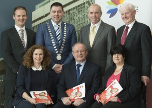 At the launch of the Cork Age Friendly County Strategy at County Hall were, front (left to right): Aileen Hurley, Cork Age Friendly County Co-Ordinator, James Fogarty, Divisional Manager, Cork County Council and Liz Maddox, Vice Chairman, Cork Older Peoples Council.  Back (left to right): Shane Winters, Regional Co-Ordinator, Age Friendly Ireland, Cllr. John Paul O'Shea, Mayor of the County of Cork, Tim Lucey, Chief Executive Cork County Council and Michael O'Sullivan, Chairperson, Cork Older Peoples Council.  Picture: Martin Walsh.