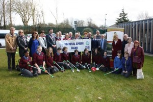 Pictured with the Mayor of Cork County Cllr. John Paul O'Shea are Maura Allen, Carrigaline Tidy Towns, Howard Crowdy, Carrigaline Tidy Towns, Roy Jolly, President of Carrigaline Lyons Club, Michael Collins, Foróige , Dr Mary Stack EARU, Sharon Corcoran Director Environment and students from Carrigaline Community School, Gael Choláiste Charraig Uí Leighin and Christ King Girls School, Douglas.