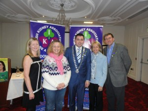 Mayor of Cork County Cllr. John Paul O' Shea with staff from the Cardiac & Renal Unit of Cork University Hospital at the launch of Organ Donor Awareness Week in the Rochestown Park Hotel, Cork.