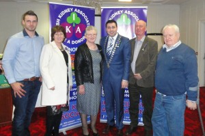 Mayor of Cork County Cllr. John Paul O' Shea with the Leader & Angland families from Ballydesmond, Co Cork at the launch of Organ Donor Awareness Week in the Rochestown Park Hotel, Cork.