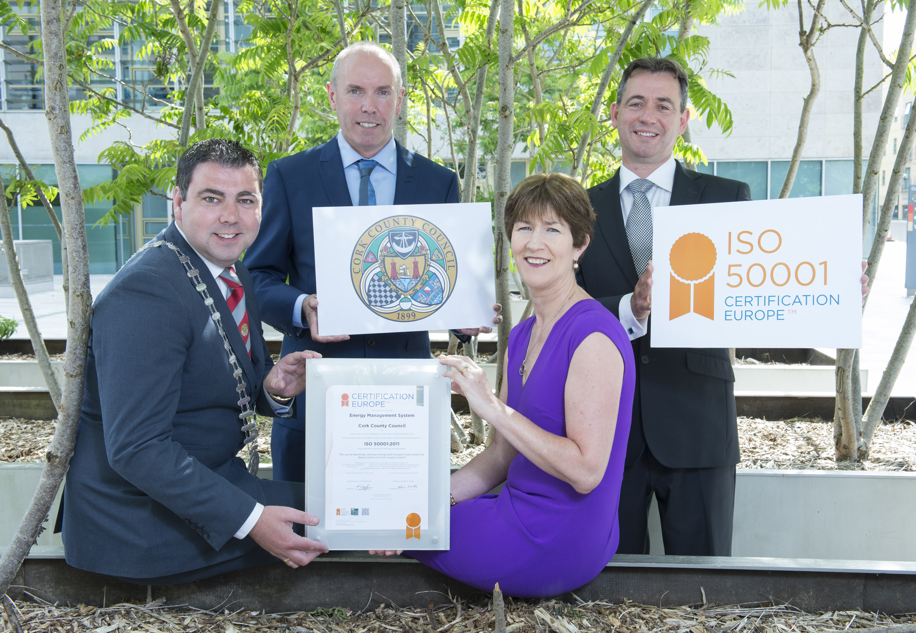 Cork County Council is Ireland's first Local Authority to receive ISO50001 Accreditation