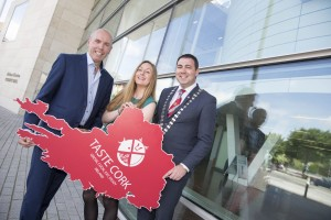 Tim Lucey (Chief executive Cork City Council), Rebecca O'Keeffe (Taste Cork) & John Paul O'Shea (Cork County Mayor) pictured at the launch of acountywide food strategy for Cork.