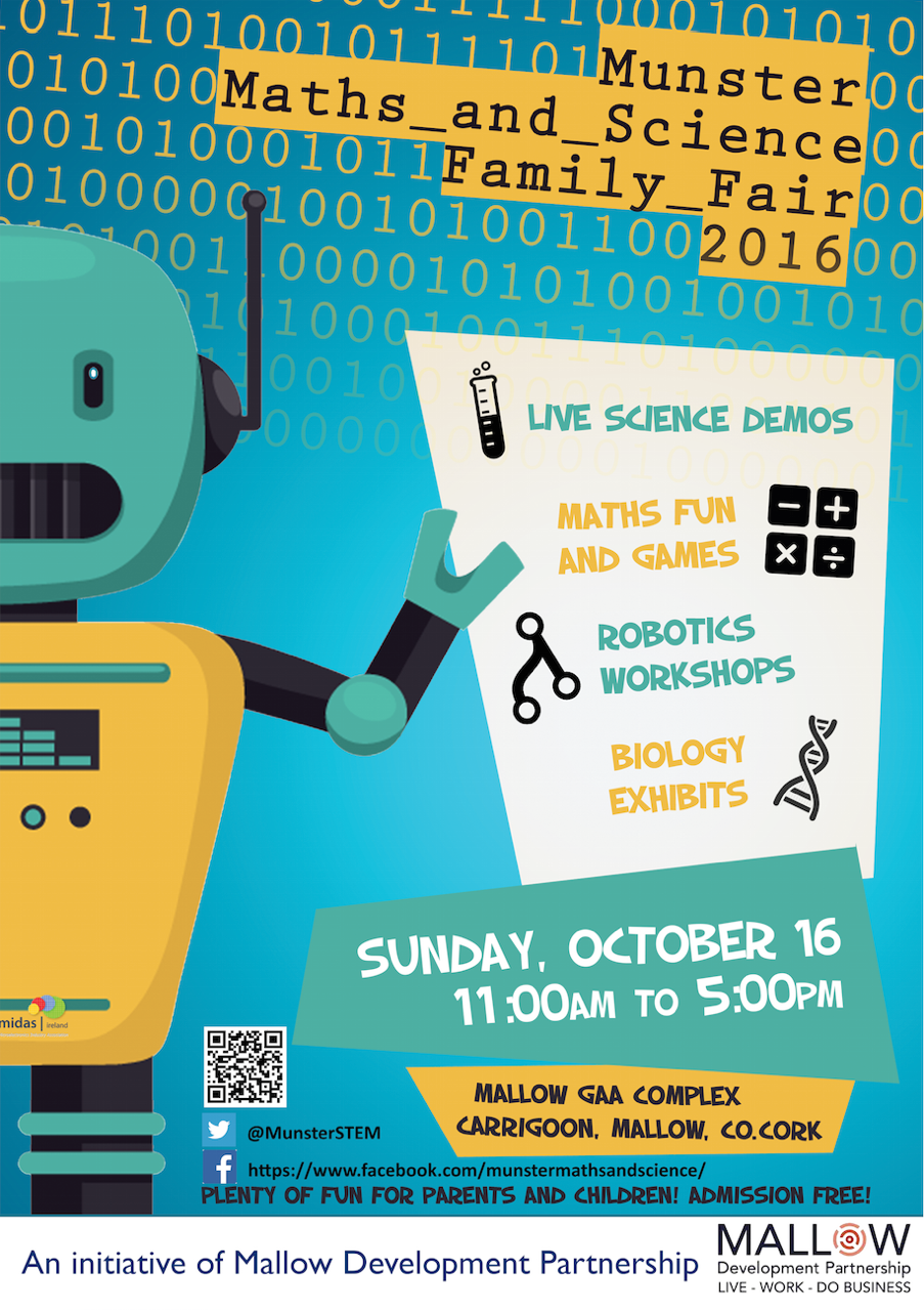 Mallow to host Munster Maths and Science Family Fair 2016