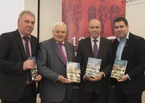 At the launch of the book, Heritage of Centenary Sites of Rebel County Cork at the Library Headquarters at County Hall were (left to right): John O'Neill, Director of Services, Cork County Council, Cllr. Frank O'Flynn, Tim Lucey, Chief Executive Cork County Council and Cllr. John Paul O'Shea.  Picture: Martin Walsh.