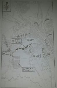 Location of the new link road proposed for Kanturk.