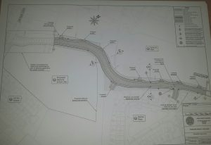 Drawing of the new link road proposed for Kanturk Town.