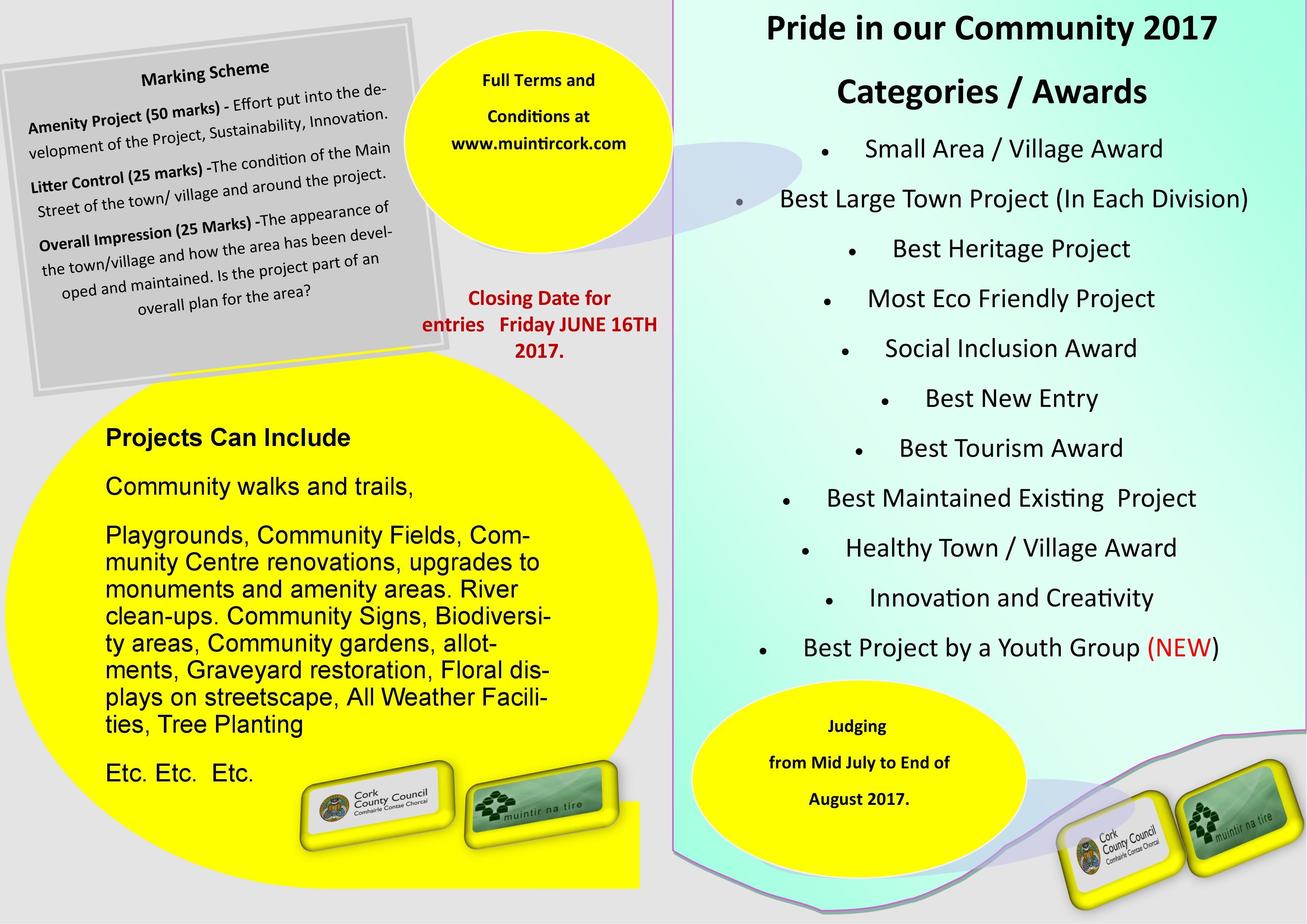 Muintir Na Tire Cork opens entries for Pride in our Community Competition 2017