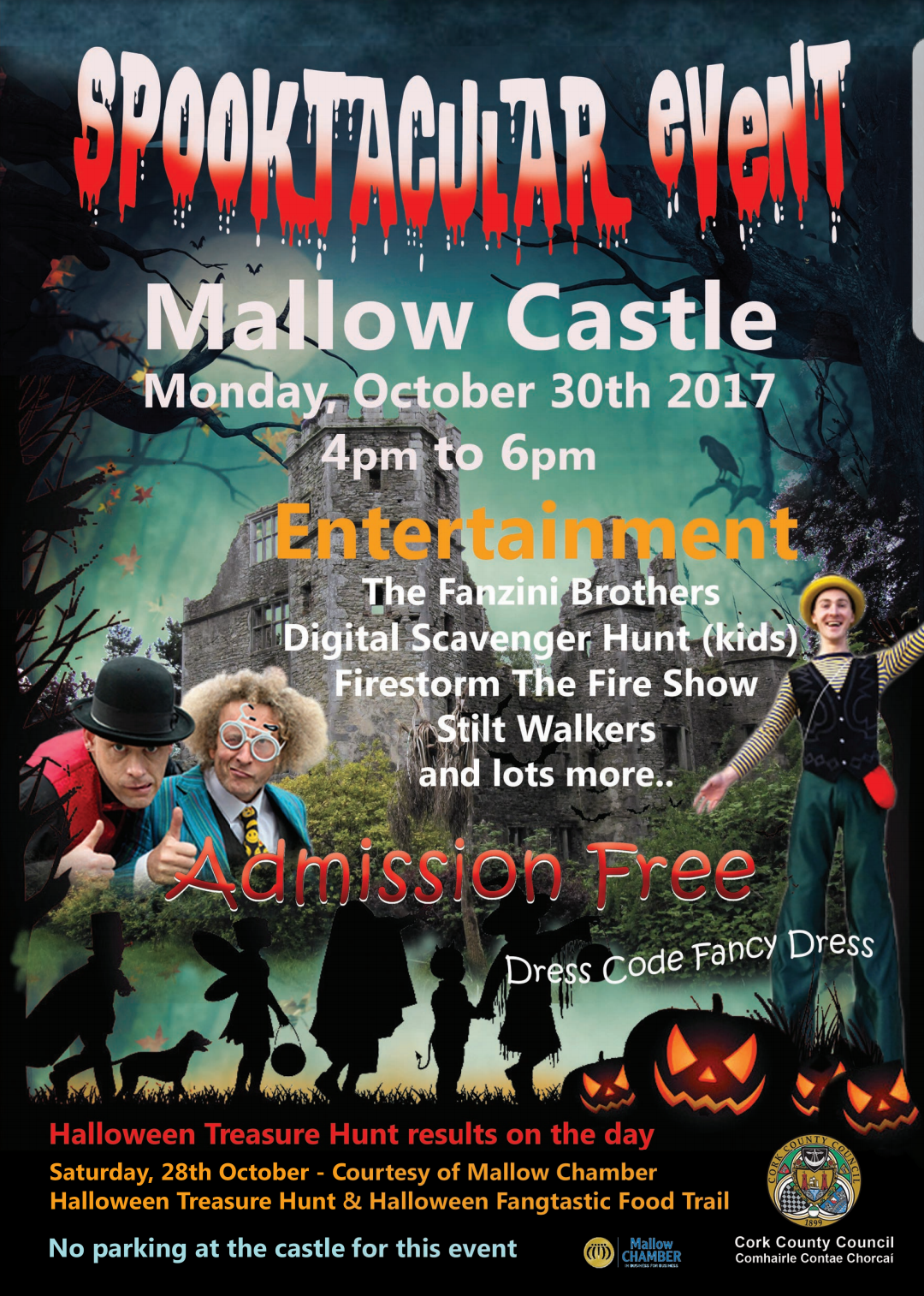 Halloween Spooktacular Event at Mallow Castle – Monday 30th October 4-6pm