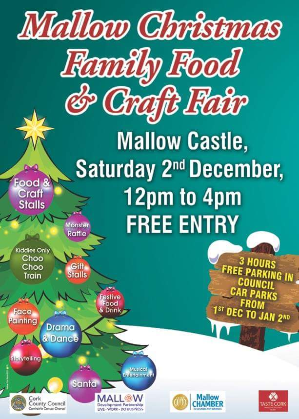 Mallow's Christmas Family Food & Craft Fair– Saturday 2nd December 2017
