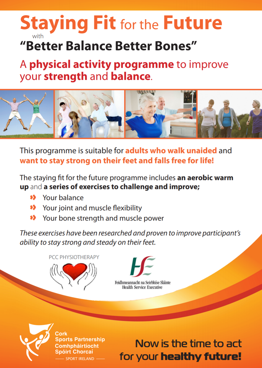 Cork Sports Partnership in conjunction with HSE Organises Staying Fit for the Future with Better Balance Better Bones programme throughout North Cork