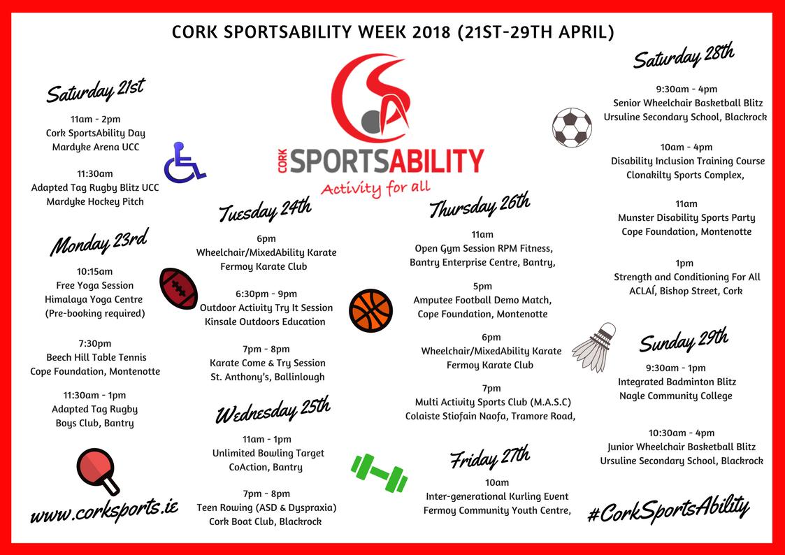 Cork Sports Ability Week 3