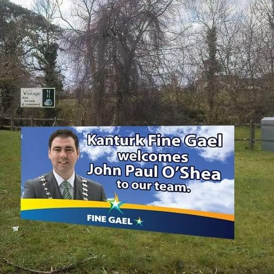 Cllr. John Paul O'Shea receives another warm welcome in Kanturk