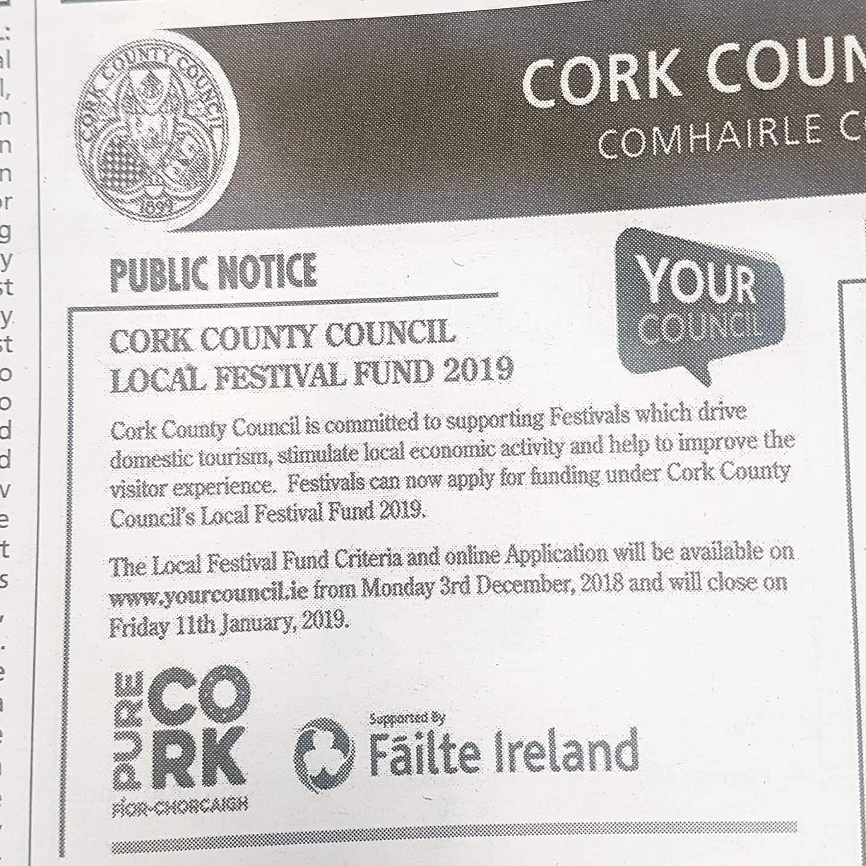 Cork County Local Festival Fund 2019