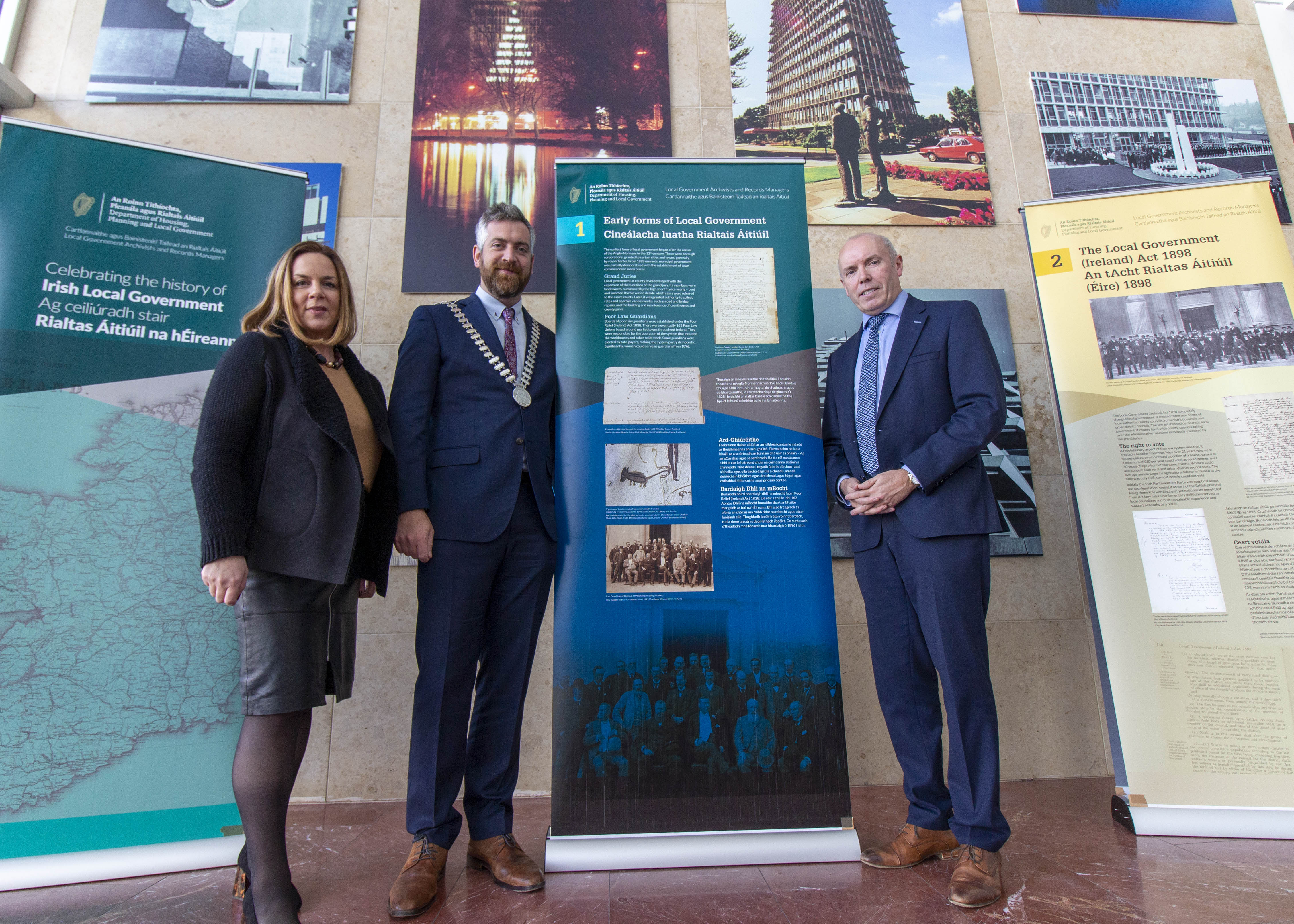 Exhibition Celebrating 120 Years of Irish Local Government on Display in County Hall