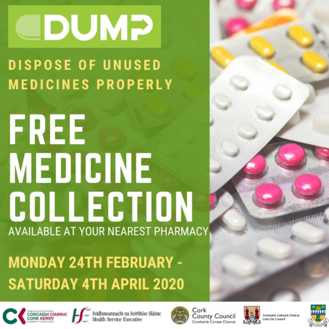 Free Service to Dispose of Unused Medicines Properly (DUMP)