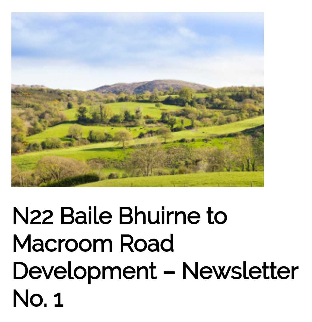 N22 Baile Bhuirne to Macroom Bypass Update – February 2020