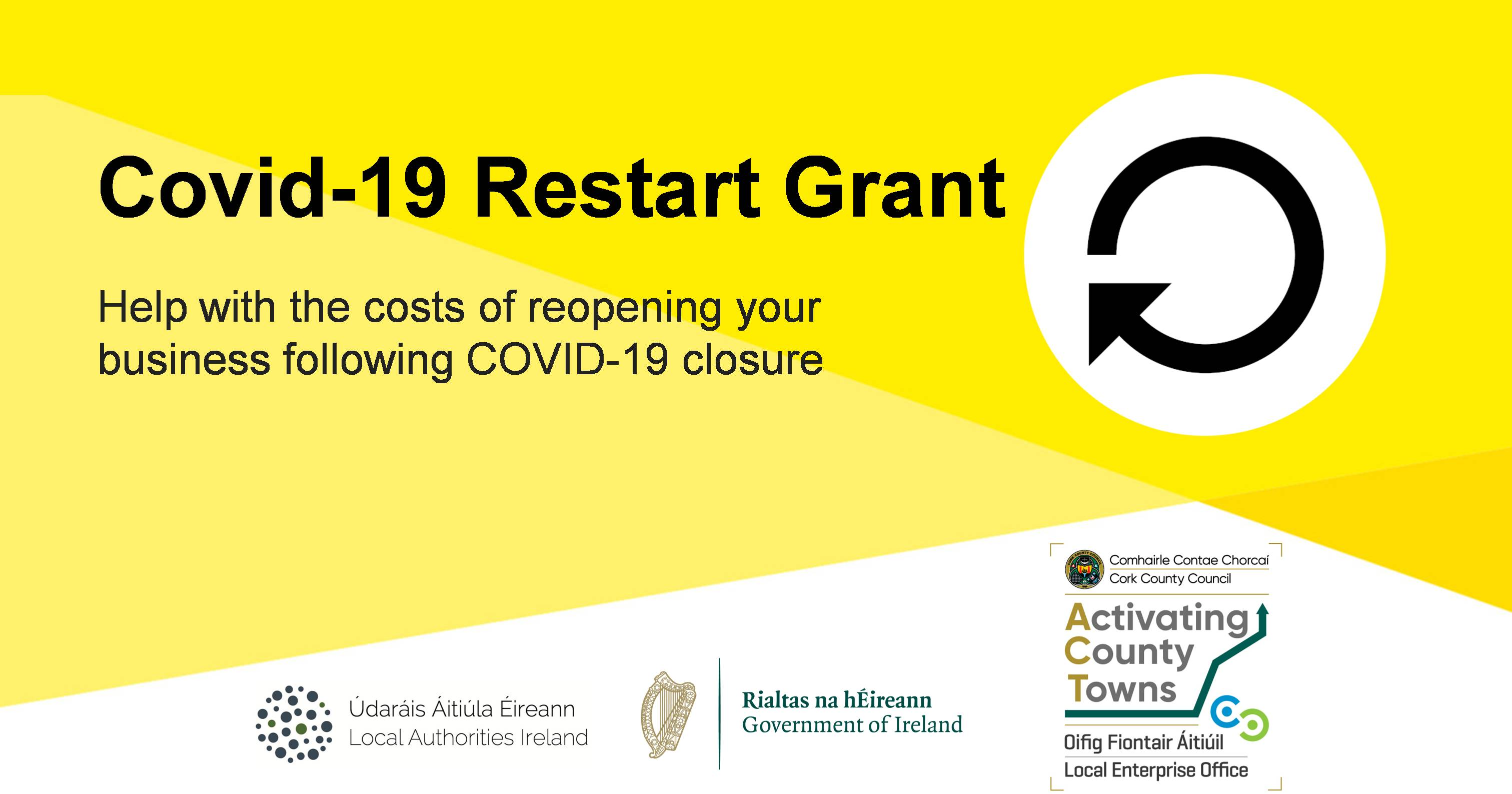 Applications Open for Cork County Restart Grant for Small Businesses