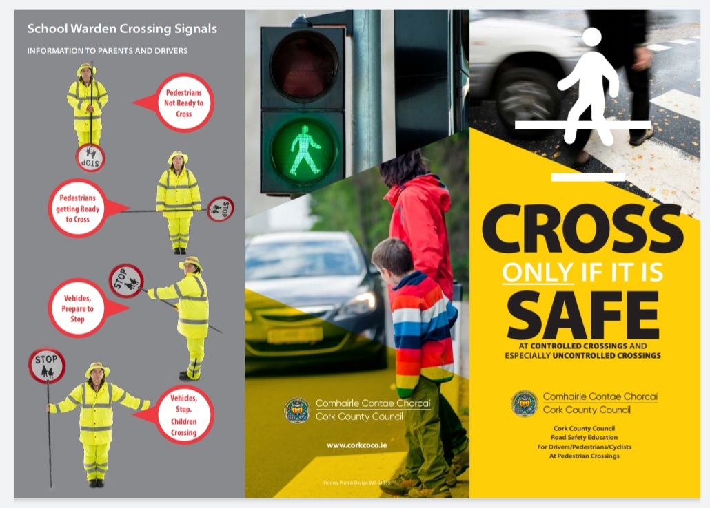 Cork County Council Launches New Pedestrian Crossing Safety Leaflet