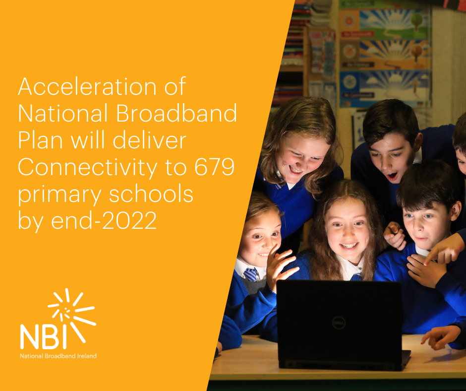 Acceleration of National Broadband Plan Will Deliver Broadband to All Primary Schools by end-2022
