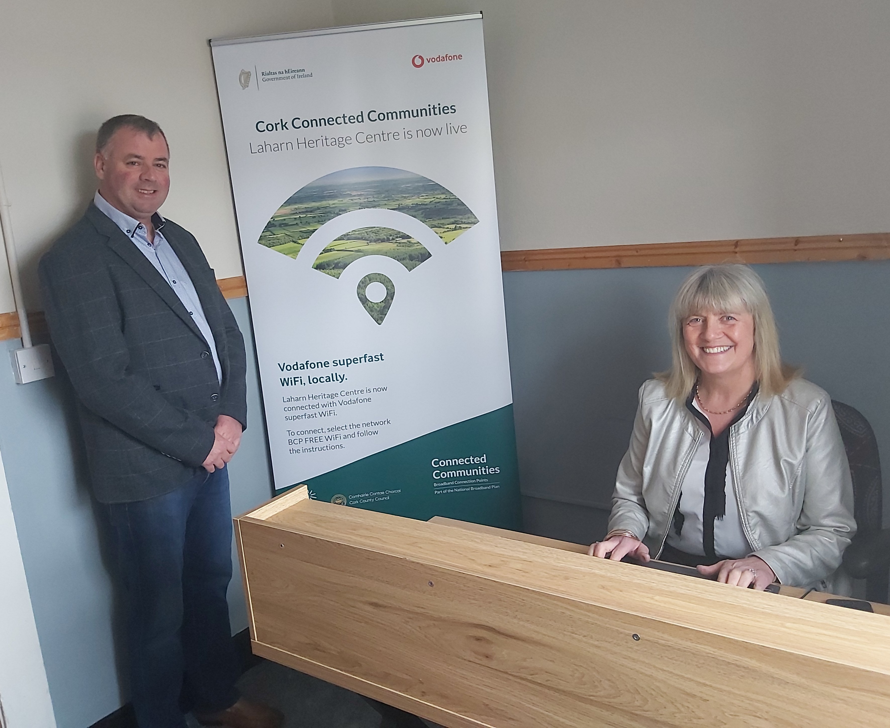 Broadband Connection Point Goes Live at Laharn Heritage Centre