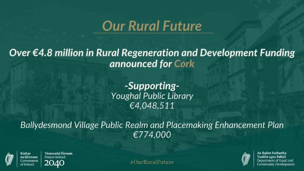 Ballydesmond Receives Significant Injection of Rural Funding